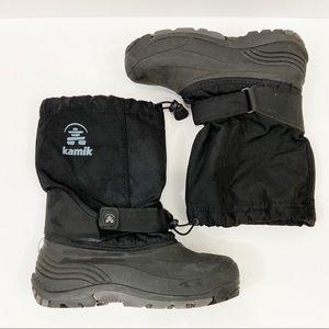 KAMIK Winter Snow Boots Black Sz 6 *NO LINING*